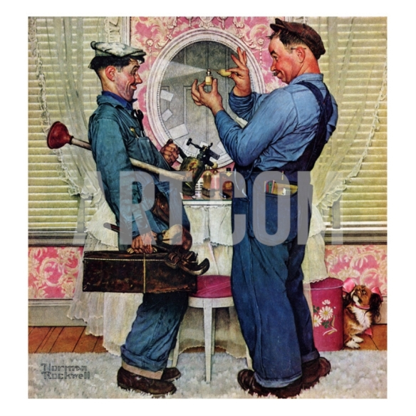 Gay Plumbers, Norman Rocvkwell 1951